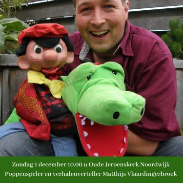 Viering met poppenspeler en verhalenverteller Matthijs Vlaardingerbroek